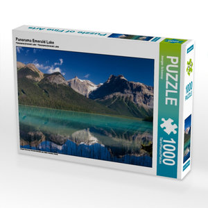 Panorama Emerald Lake 1000 Teile Puzzle quer