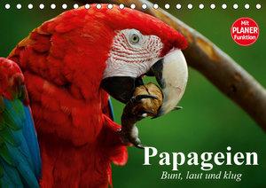 Papageien. Bunt, laut und klug (Tischkalender 2019 DIN A5 quer)