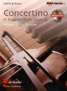 Concertino op. 35 in Russian Style, für Violine, mit Audio-CD