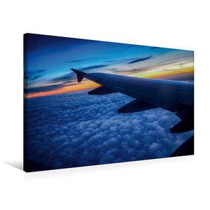 Premium Textil-Leinwand 75 cm x 50 cm quer Über den Wolken