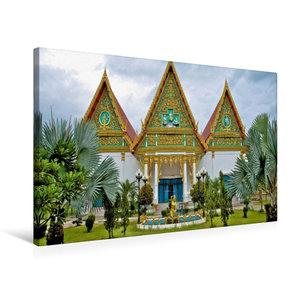 Premium Textil-Leinwand 75 cm x 50 cm quer Tempelanlage, Hua Hin
