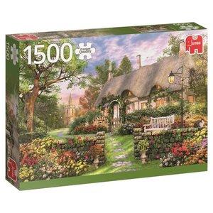 Sonniges Cottage - 1500 Teile Puzzle