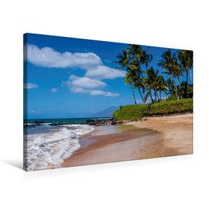 Premium Textil-Leinwand 75 cm x 50 cm quer Kihei Beach