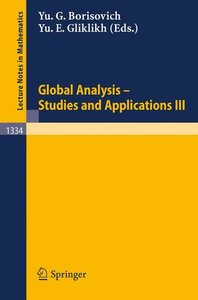 Global Analysis. Studies and Applications III