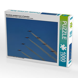 Snowbirds aerobatic team in Formation 1000 Teile Puzzle quer