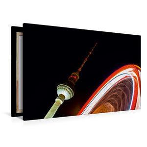 Premium Textil-Leinwand 120 cm x 80 cm quer Alexanderplatz