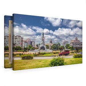 Premium Textil-Leinwand 75 cm x 50 cm quer Kubanisches Pastell