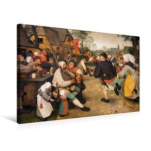 Premium Textil-Leinwand 75 cm x 50 cm quer Bauerntanz - 1568