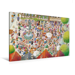 Premium Textil-Leinwand 120 cm x 80 cm quer Auf dem Flohmarkt is
