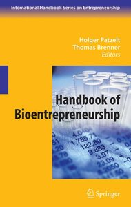 Handbook of Bioentrepreneurship