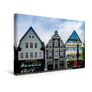 Premium Textil-Leinwand 45 cm x 30 cm quer Hausfassaden an der O