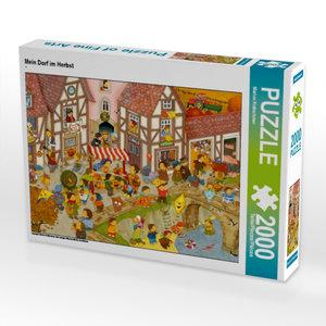 Mein Dorf im Herbst 2000 Teile Puzzle quer