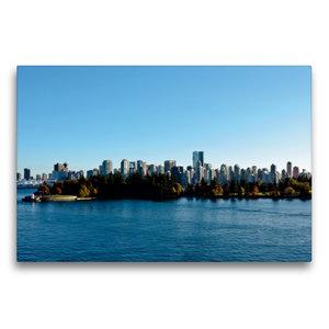 Premium Textil-Leinwand 75 cm x 50 cm quer Skyline Vancouver