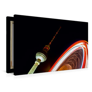 Premium Textil-Leinwand 90 cm x 60 cm quer Alexanderplatz