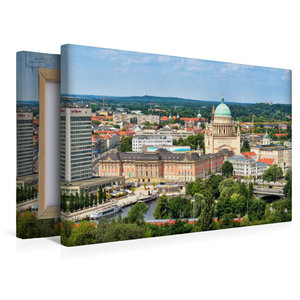 Premium Textil-Leinwand 45 cm x 30 cm quer Potsdams neue alte Mi