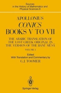 Apollonius: Conics Books V to VII