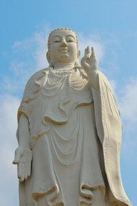 Premium Textil-Leinwand 80 cm x 120 cm hoch Buddhafigur, Vin Tr