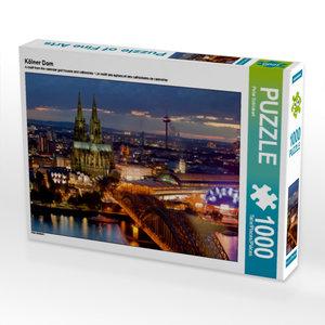 Kölner Dom 1000 Teile Puzzle quer
