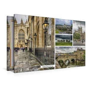 Premium Textil-Leinwand 120 cm x 80 cm quer Bath & Stonehenge