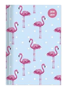 Collegetimer A5 Woche Flamingo 2018/2019