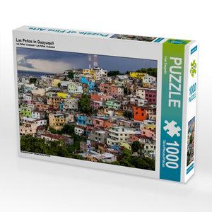Las Peñas in Guayaquil 1000 Teile Puzzle quer
