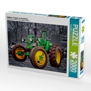 Oldtimer Traktor Le Percheron 2000 Teile Puzzle quer