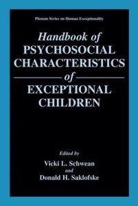 Handbook of Psychosocial Characteristics of Exceptional Children