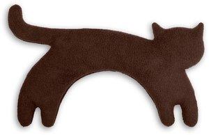 Katze Minina sitzend groß Schokolade, Wärmekissen