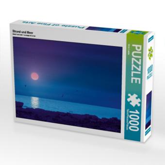 Strand und Meer 1000 Teile Puzzle quer - zum Schließen ins Bild klicken