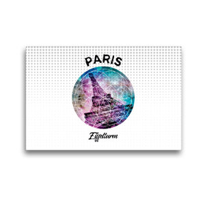 Premium Textil-Leinwand 45 cm x 30 cm quer Graphic-Art PARIS Eif