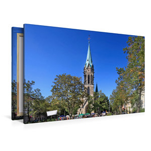 Premium Textil-Leinwand 120 cm x 80 cm quer Johanneskirche