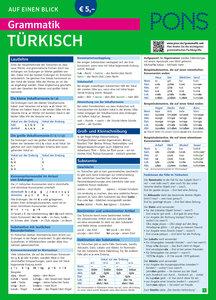 PONS Grammatik auf einen Blick Türkisch