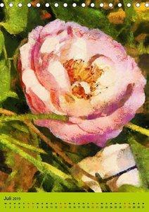 Malerische Rosen (Tischkalender 2019 DIN A5 hoch)