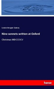 Nine sonnets written at Oxford