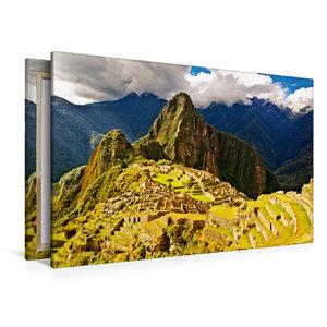 Premium Textil-Leinwand 120 cm x 80 cm quer Macchu Picchu