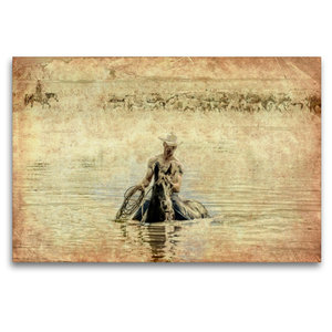 Premium Textil-Leinwand 120 cm x 80 cm quer Summertime