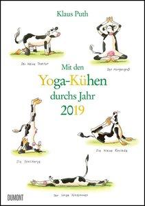 Mit den Yoga-Kühen durchs Jahr 2019 - Lustige Cartoons - Wandkal