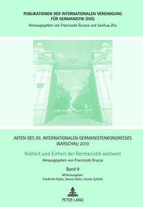 Akten des XII. Internationalen Germanistenkongresses Warschau 20