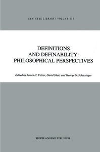 Definitions and Definability: Philosophical Perspectives