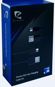 PIRANHA PS4 TWIN CHARGING CABLE 4M, Daten- und Ladekabel für PS4