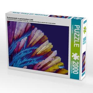CALVENDO Puzzle Zuckerkristalle in polarisiertem Licht 2000 Teil