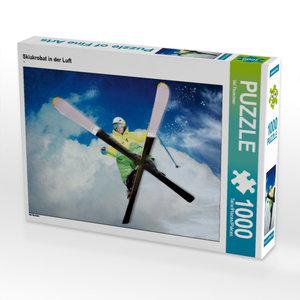 Skiakrobat in der Luft 1000 Teile Puzzle quer