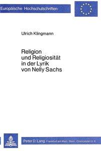 Religion und Religiosität in der Lyrik von Nelly Sachs
