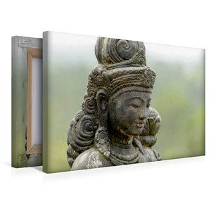 Premium Textil-Leinwand 45 cm x 30 cm quer Diese Statue beschütz