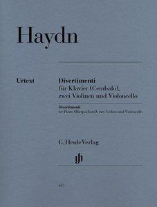 Divertimenti für Klavier (Cembalo) mit zwei Violinen und Violonc