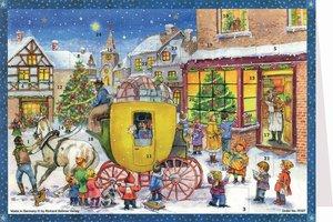 """Postkarten-Adventskalender \""""Kutsche\"""""""