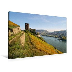 Premium Textil-Leinwand 90 cm x 60 cm quer Burg Ehrenfels
