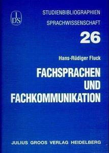 Fachsprachen und Fachkommunikation