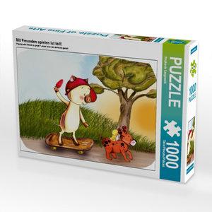 Mit Freunden spielen ist toll! 1000 Teile Puzzle quer