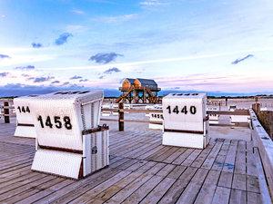 CALVENDO Puzzle Strand von St. Peter-Ording in der blauen Stunde